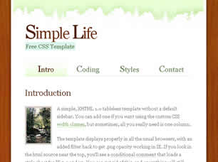 Free css templates page 109 preview simple life free html css javascript template maxwellsz